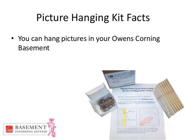 owens corning basement finishing system picture hanging kit