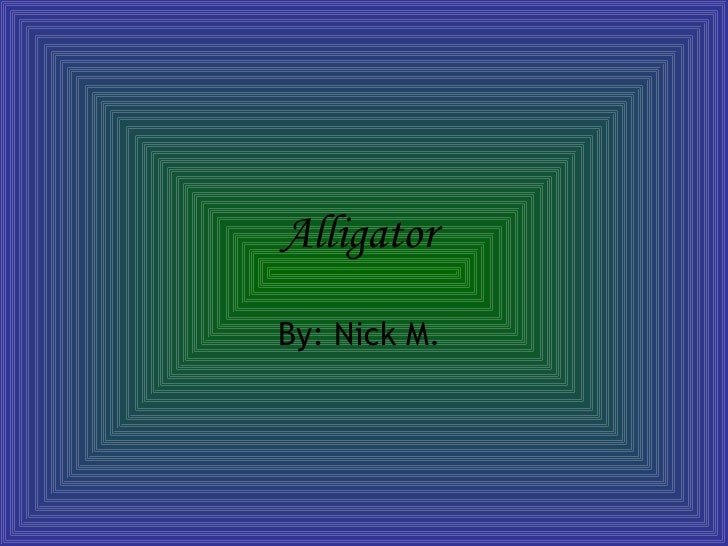 Alligator   By: Nick M.
