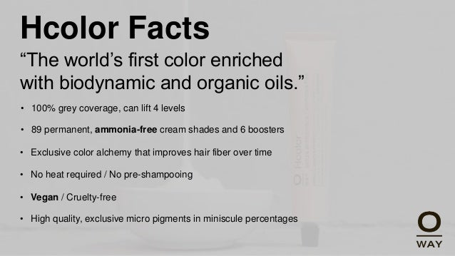 Oway Hcolor Review Professional Organic Hair Color