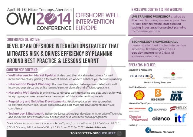 April 15-16   Hilton Treetops, Aberdeen  EXCLUSIVE CONTENT & NETWORKING LWI TRAINING WORKSHOP chaired by Shell and focussi...