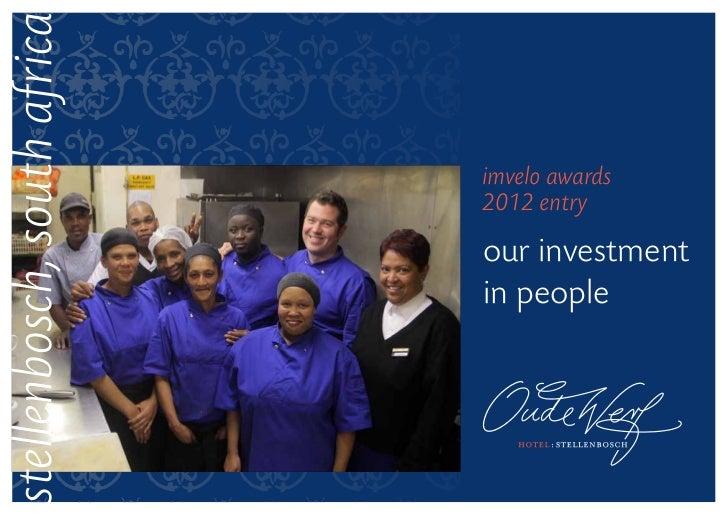stellenbosch, south africa                             imvelo awards                             2012 entry               ...