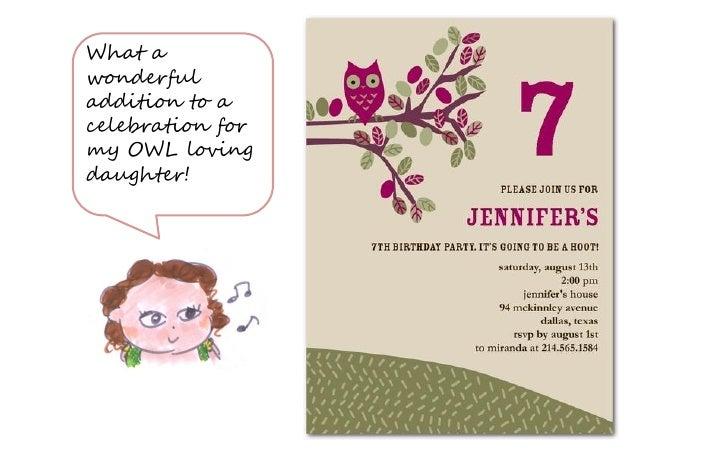 Owl birthday party invitations 4 filmwisefo