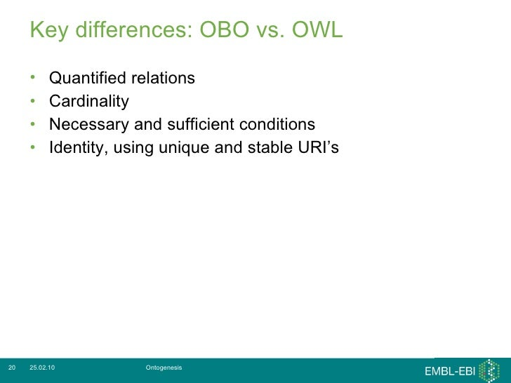 OWL and OBO