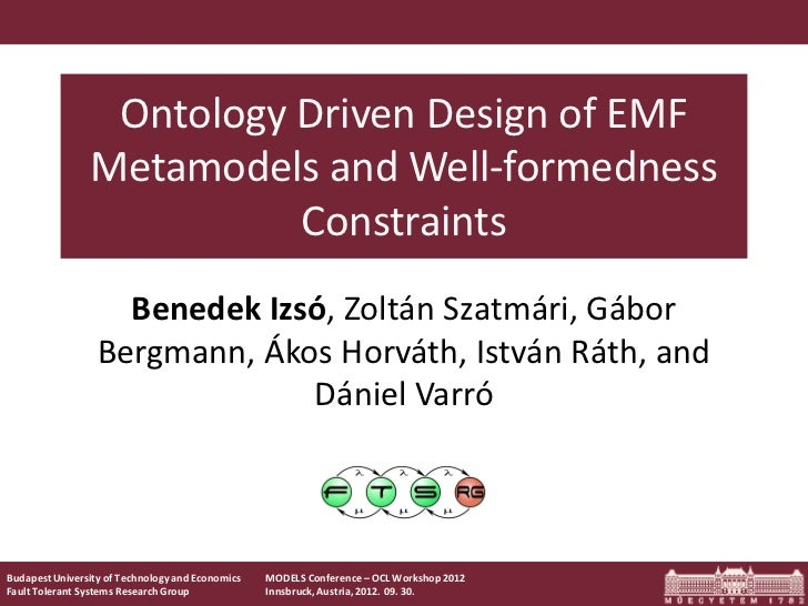 Ontology Driven Design of EMF                Metamodels and Well-formedness                          Constraints          ...