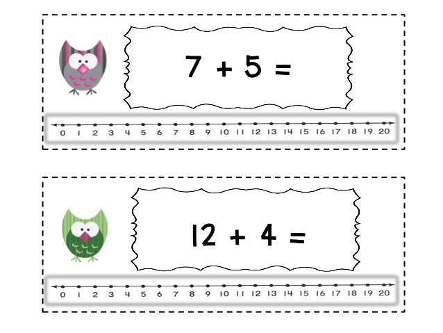 Owl addition and subtraction number line (2)