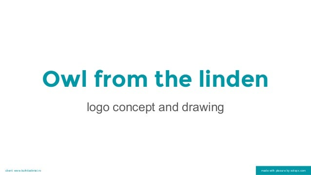 Owl from the linden logo concept and drawing made with plasure by solopx.comclient: www.bufnitadintei.ro