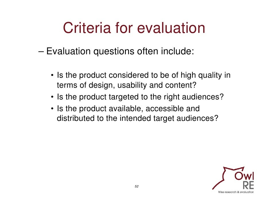 Evaluating Communication Programmes Products and Campaigns Training – Product Evaluation Template