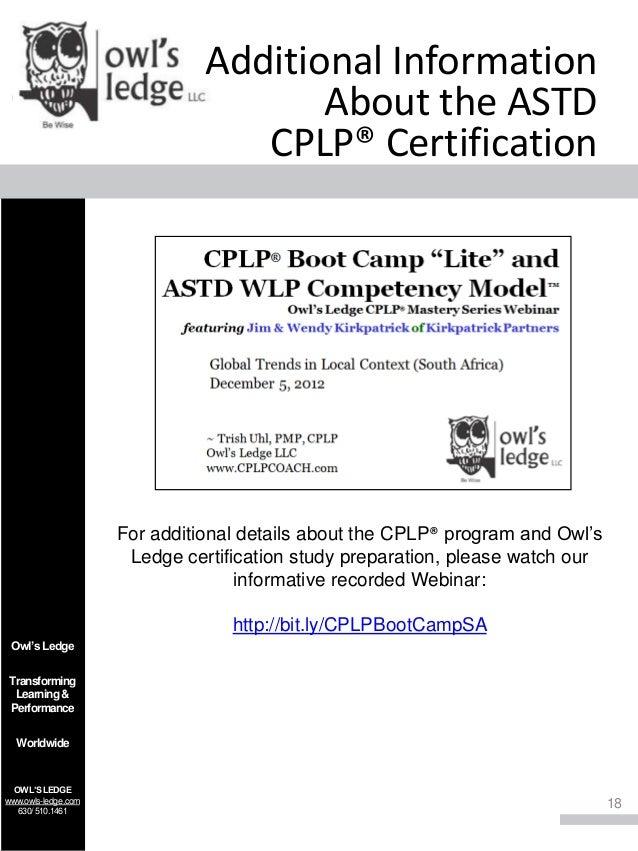 astd cplp certification ledge mastery preparation