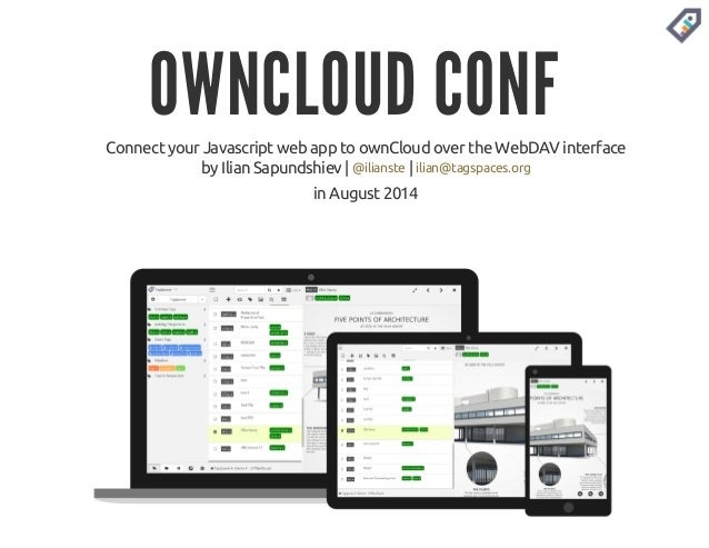 Connect your Javascript web app to ownCloud over the