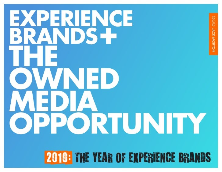 EXPERIENCE BRANDS THE OWNED MEDIA OPPORTUNITY