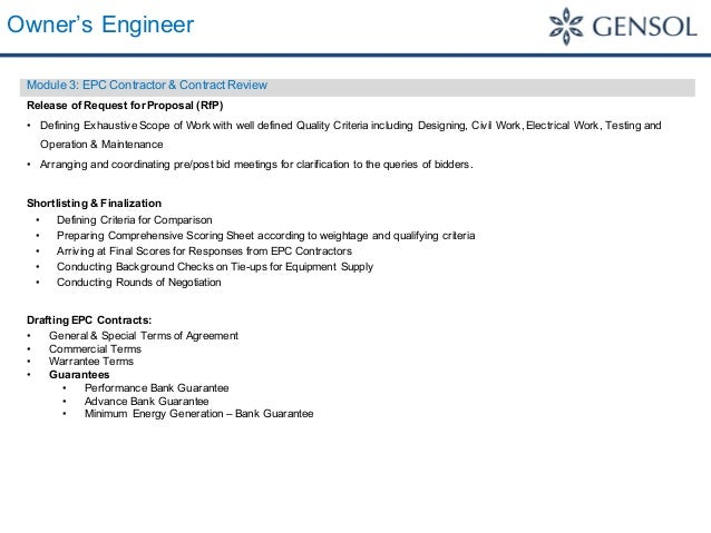 Owner S Engineer Services Statement Of Capabilities