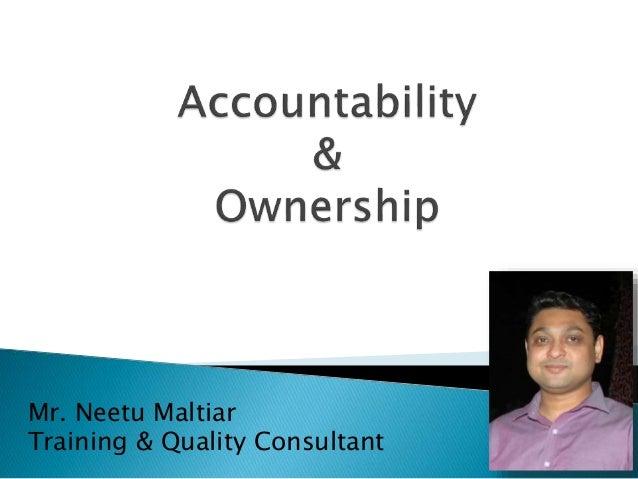 Mr. Neetu Maltiar Training & Quality Consultant