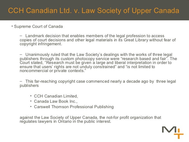 <ul><li>Supreme Court of Canada </li></ul><ul><ul><li>Landmark decision that enables members of the legal profession to ac...