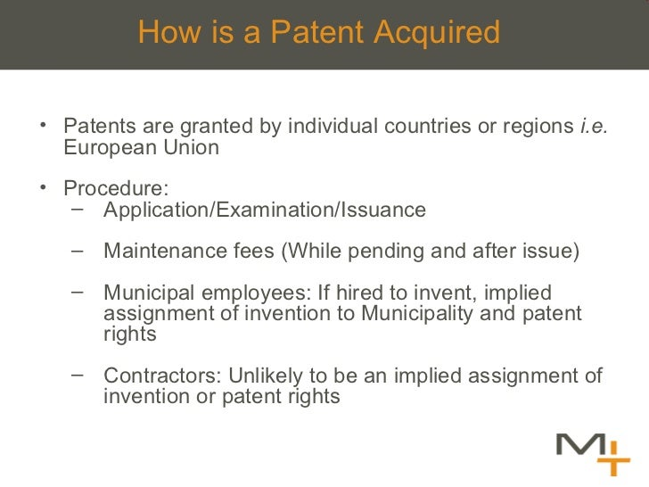 How is a Patent Acquired <ul><li>Patents are granted by individual countries or regions  i.e.  European Union </li></ul><u...