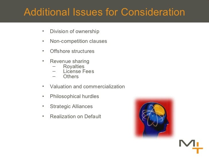 Additional Issues for Consideration <ul><li>Division of ownership </li></ul><ul><li>Non-competition clauses </li></ul><ul>...