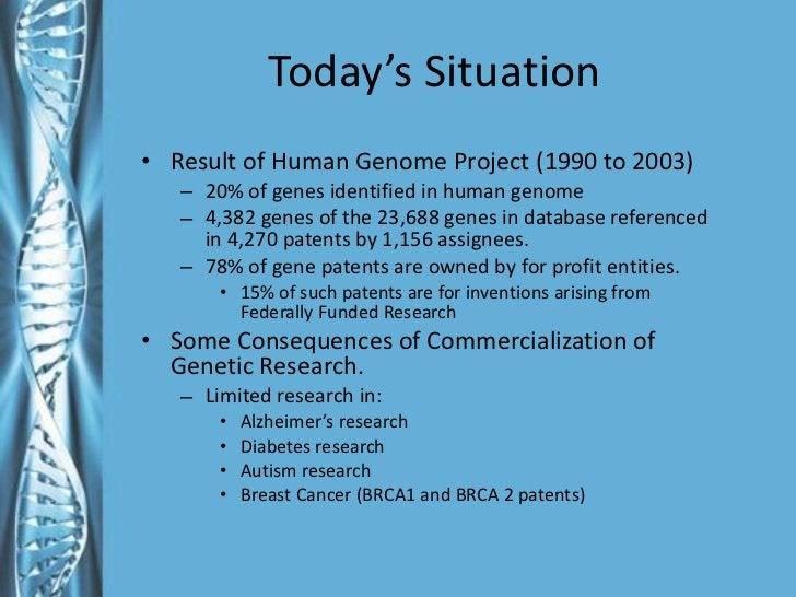 Today's Situation <ul><li>Result of Human Genome Project (1990 to 2003) </li></ul><ul><ul><li>20% of genes identified in h...