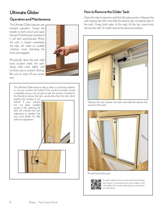 Marvin windows and doors owners manual for Marvin integrity glider windows