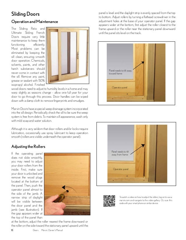 Marvin Windows And Doors Owners Manual