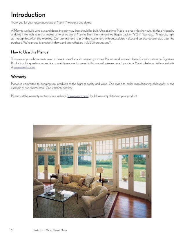 marvin windows and doors owners manual rh slideshare net Marvin Casement Windows marvin windows owner's manual