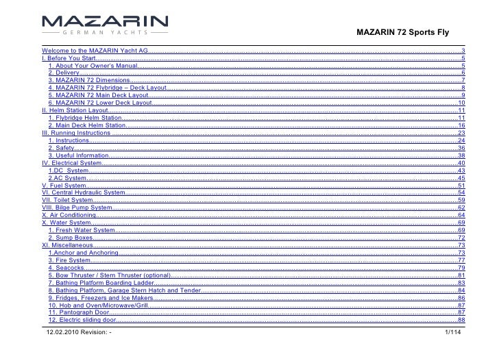 MAZARIN 72 Sports Fly  Welcome to the MAZARIN Yacht AG.......................................................................