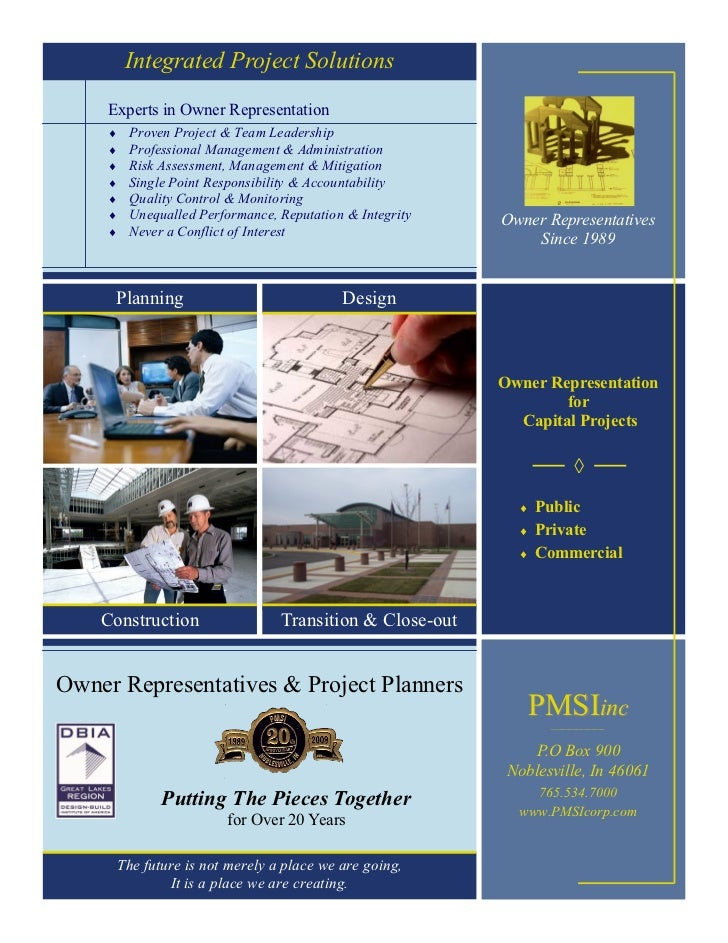 Integrated Project Solutions     Experts in Owner Representation         Proven Project & Team Leadership         Profes...