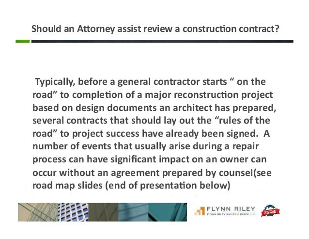Construction Contract Issues for Owners of Residences