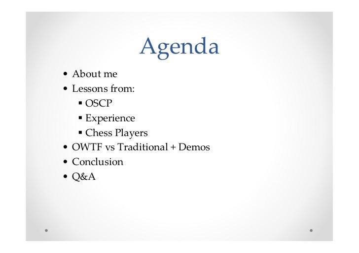 Offensive (Web, etc) Testing Framework: My gift for the community - BerlinSides 2011 Slide 2