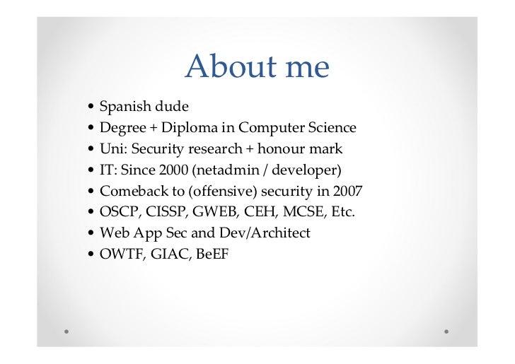 Offensive (Web, etc) Testing Framework: My gift for the community - BerlinSides 2011 Slide 3