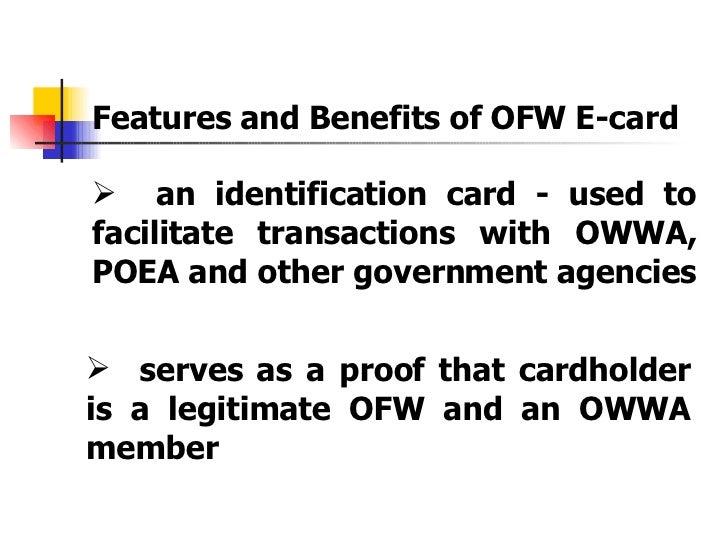 OWWA OFW e-Card
