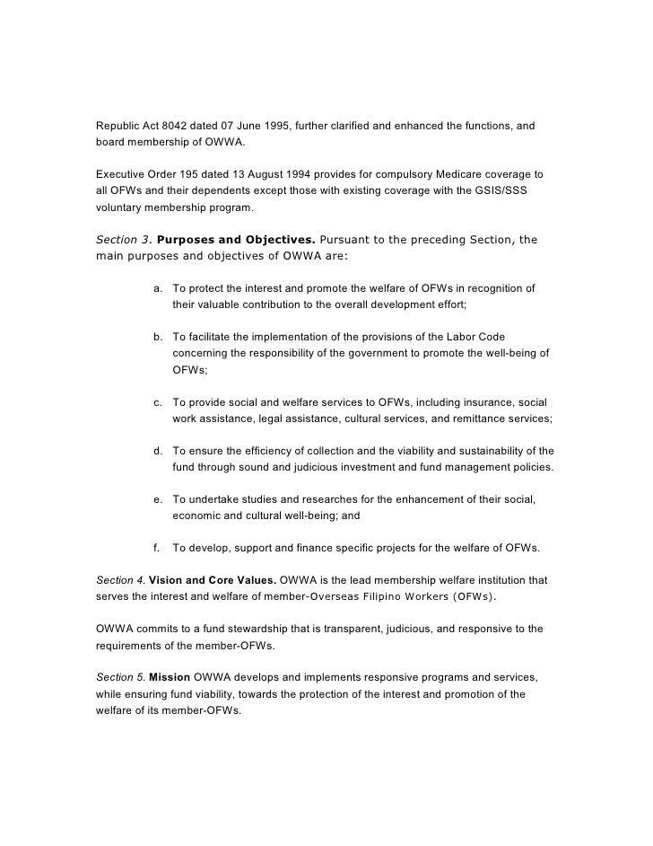 sample business plan for owwa loan