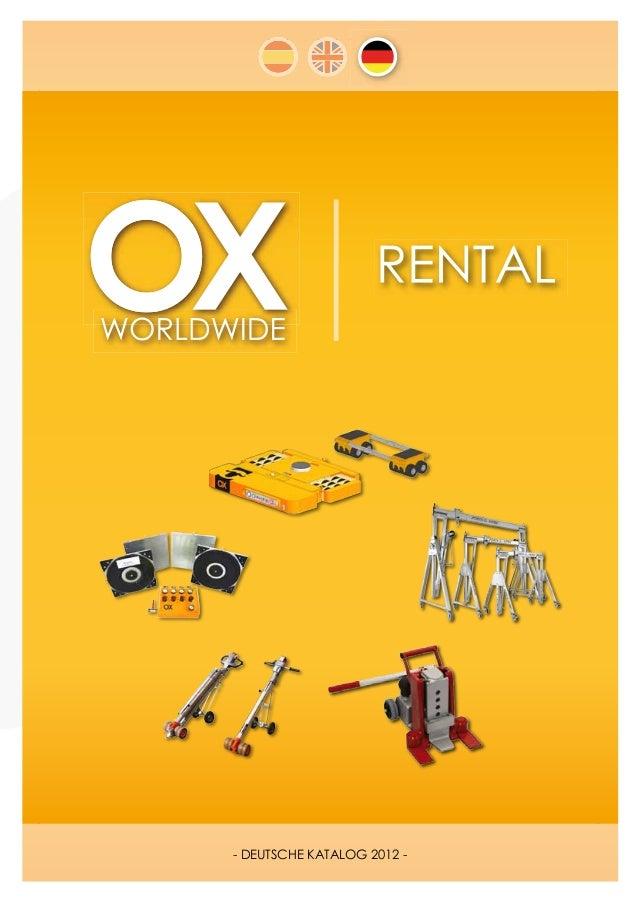 - DEUTSCHE KATALOG 2012 -OX WORLDWIDE | tel. (+0034) 902 181 777 · info@oxworldwide.com · www.oxworldwide.com   1