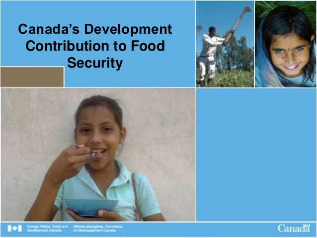Canada's Development Contribution to Food Security