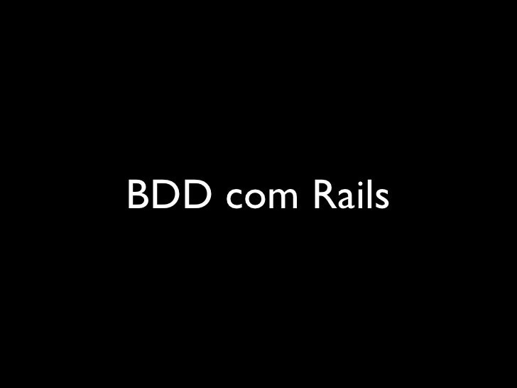 BDD com Rails