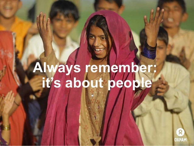 Always remember: it's about people