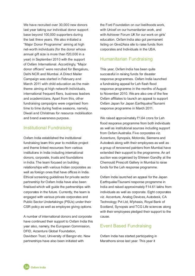 Annual Report 2011 35 New Strategy Takes Root participated in Airtel Delhi Half Marathon, Standard Chartered Mumbai Marath...