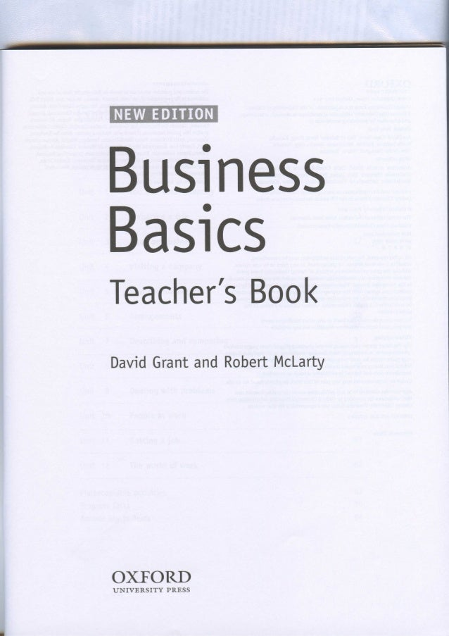Business basics teachers book fandeluxe Gallery