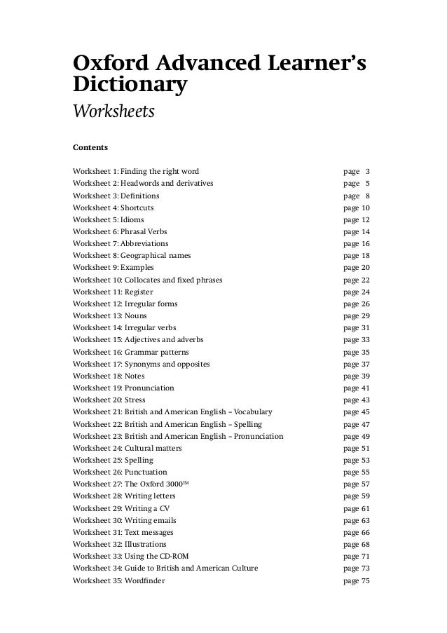 Oxford 3000 Wordlist With Meaning Pdf