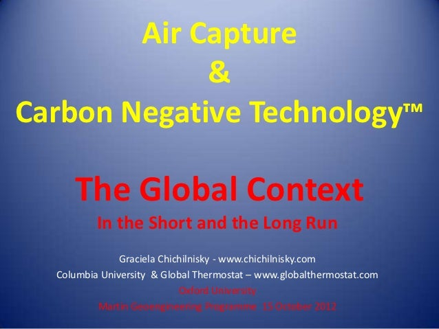Air Capture             &Carbon Negative Technology™     The Global Context          In the Short and the Long Run        ...