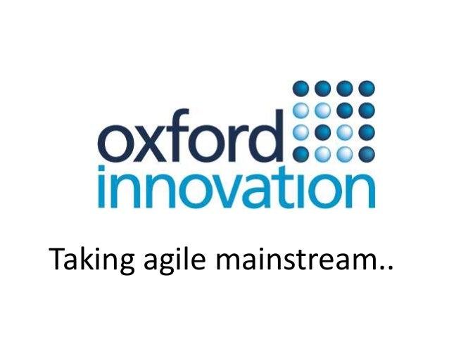 Taking agile mainstream..