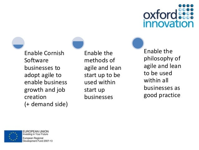 Enable Cornish  Software  businesses to  adopt agile to  enable business  growth and job  creation  (+ demand side)  Enabl...