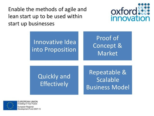 Innovative Idea  into Proposition  Repeatable &  Scalable  Business Model  Quickly and  Effectively  Proof of  Concept &  ...