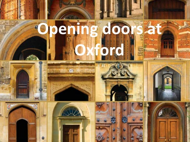 Opening doors at Oxford