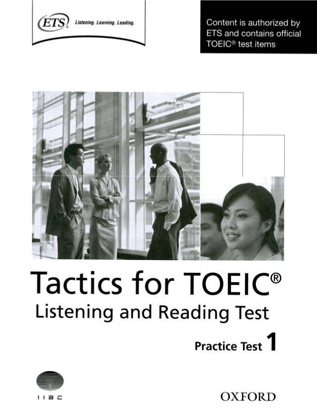 oxford practice test 1 rh slideshare net TOEIC Listening Sample Test TOEIC Listening Exercise
