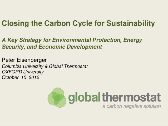 Closing the Carbon Cycle for SustainabilityA Key Strategy for Environmental Protection, EnergySecurity, and Economic Devel...