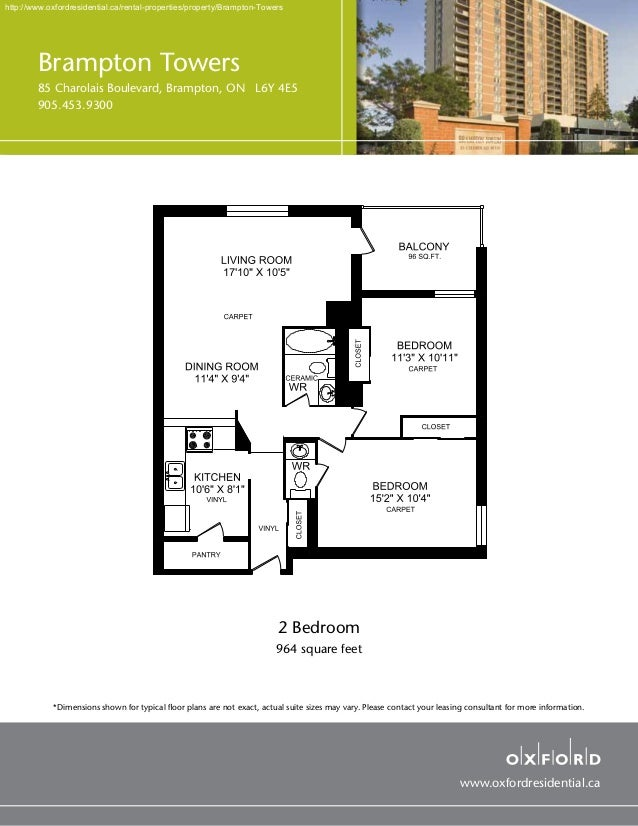 Brampton Towers By Oxford Residential Two Bedroom Apartment