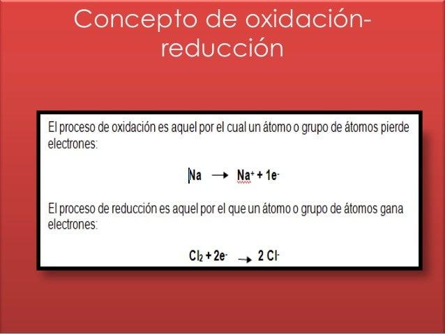 Concepto de oxidación-     reducción
