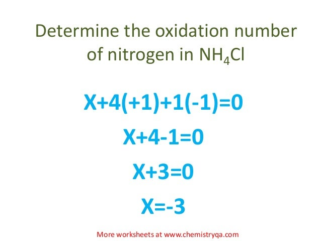 Oxidation numbers – Oxidation Numbers Worksheet