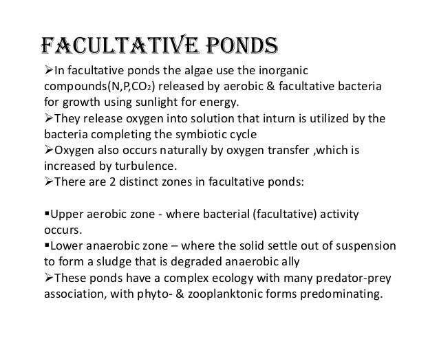 Oxidation ponds for Design of stabilisation pond