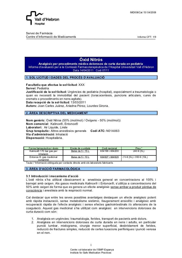 IMD006Cat 15/ 04/2008Servei de FarmàciaCentre d'Informació de Medicaments                                                 ...
