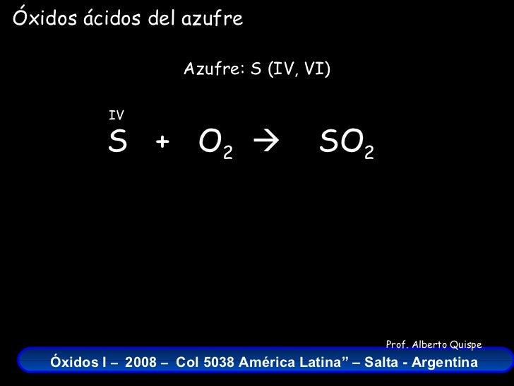 óxidos Del Azufre Fórmulas Nombres Y Ecuaciones Químicas